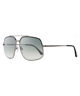 Tom Ford Aviator Sunglasses TF439 Ronnie 01Q Gunmetal//Black FT0439