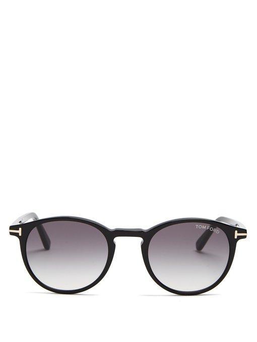 d76ecce19b Tom Ford Eyewear - Eric Round Frame Sunglasses - Mens - Black