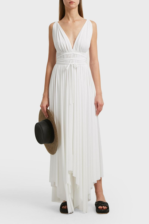 23d0ce51d9816 Norma Kamali Goddess Jersey Maxi Dress In White   ModeSens