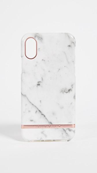 separation shoes ebe37 59128 White Marble Iphone Case in White Marble/Rose Gold