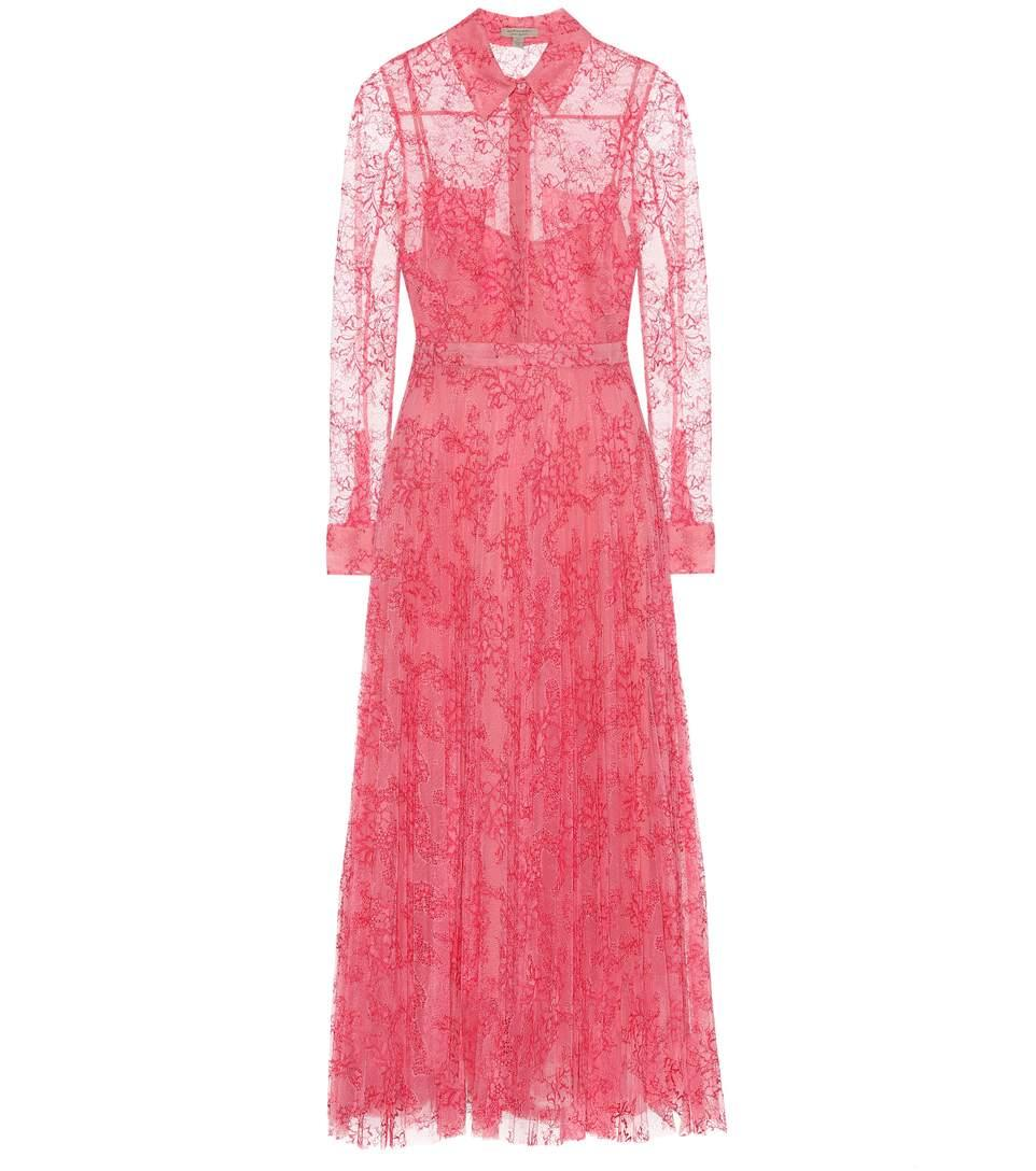 burberry pink lace dress