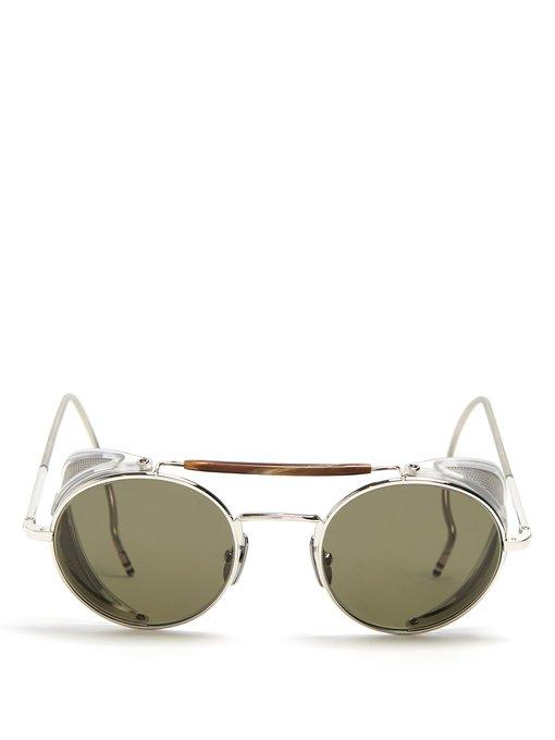 91fa2f0cf6b6 Thom Browne - Round Frame Sunglasses - Mens - Silver