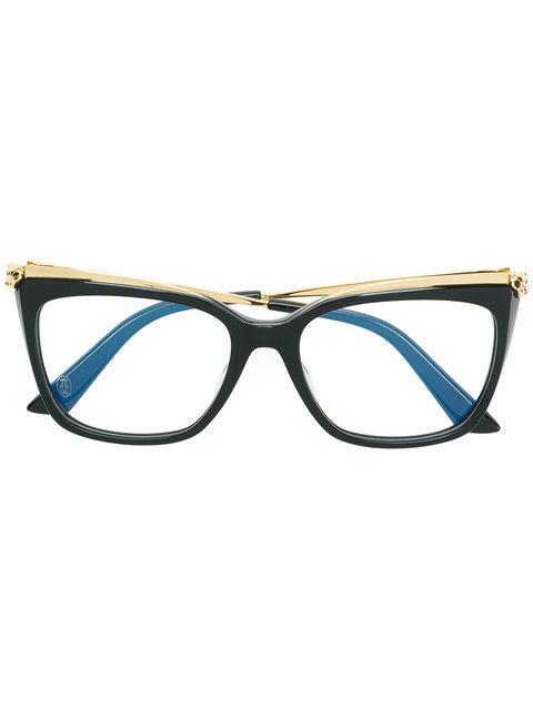 0118a0b100ce8 Cartier Cat Eye Glasses - Black