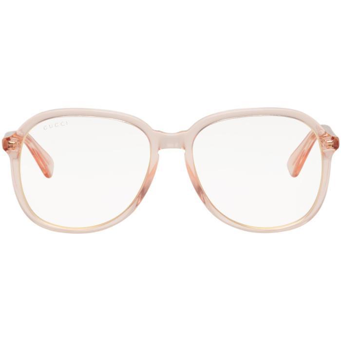 37f7081c8a704 Gucci Orange Transparent Glasses In 5000 Orange