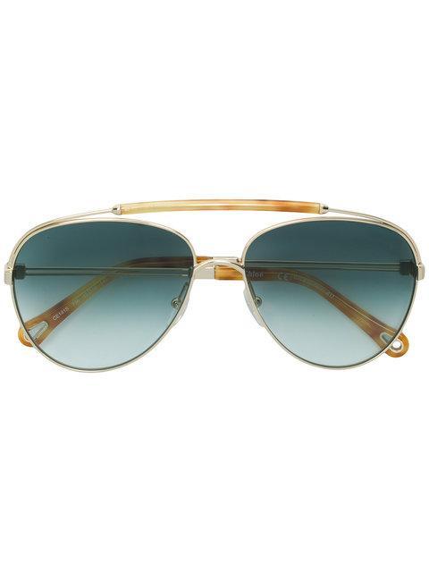 17275bce398 ChloÉ Eyewear Aviator Sunglasses - Metallic