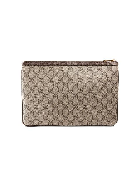 1c7d55751b86 Gucci Ophidia Large Gg Supreme Pouch Clutch Bag In Brown | ModeSens