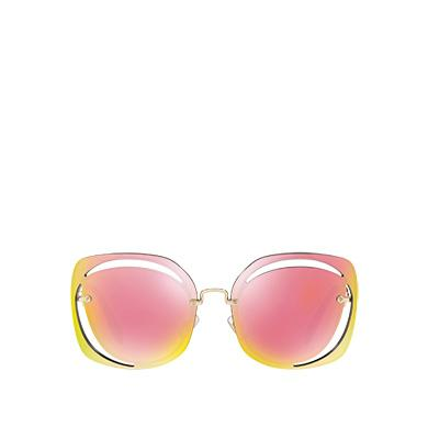 3eeb8272a2cd Miu Miu ScéNique Cut-Out Eyewear In Mirrored Pink Lenses | ModeSens
