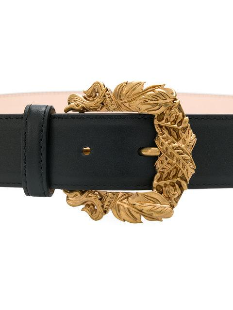 965dfd23ce Tribute Baroque Double-Buckle Leather Belt in K41Ot
