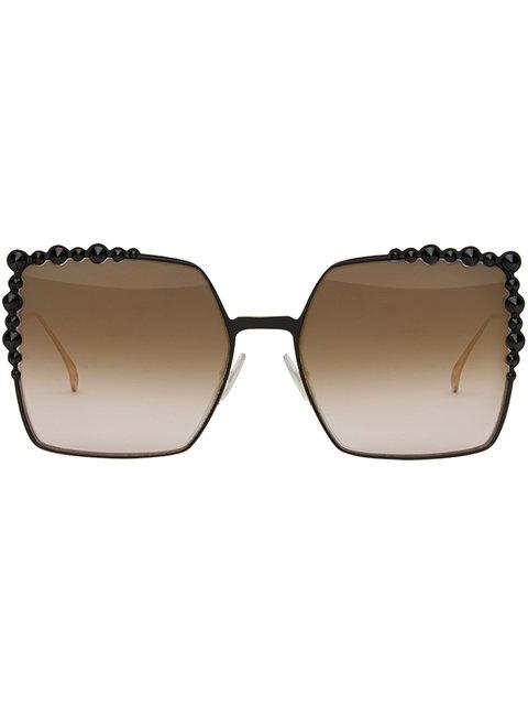 6f39ca03fd1c6 Fendi 60Mm Gradient Square Cat Eye Sunglasses - Black