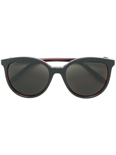 b939a2acd Cartier Round Frame Sunglasses - Black   ModeSens