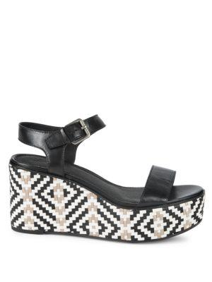 053d07c009d Heather Woven Leather Wedge Sandals in Tan Multi