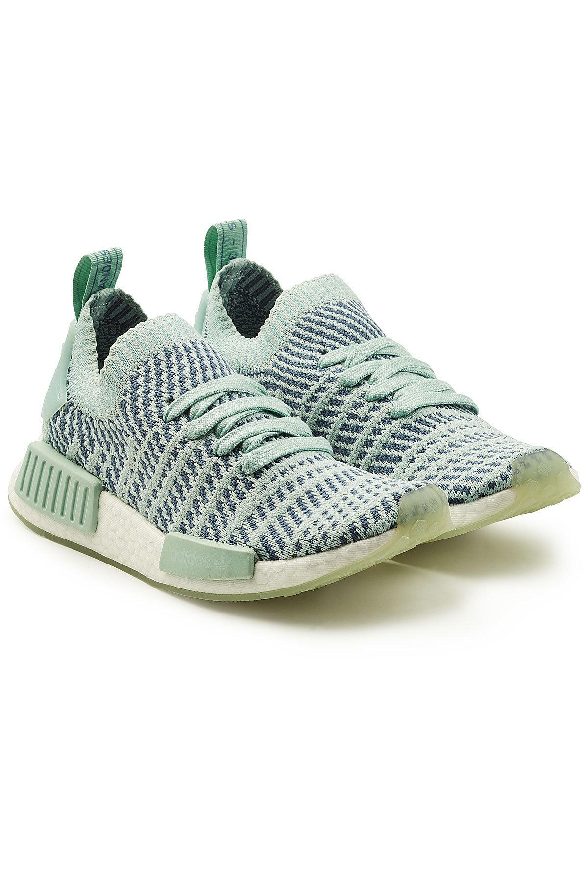 eb02102d18ed Adidas Originals Nmd R1 Rubber-Trimmed Primeknit Sneakers In Mint ...