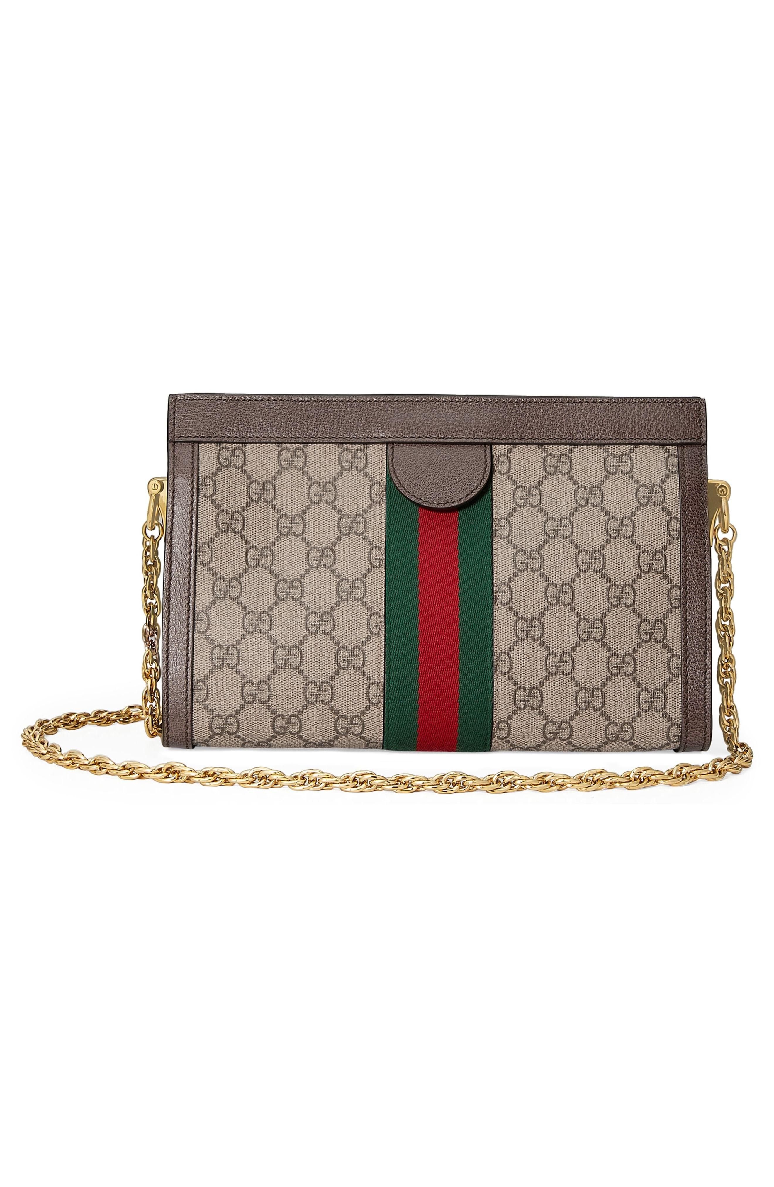 f056ce4470e GUCCI. Ophidia Textured Leather-Trimmed Printed Coated-Canvas Shoulder Bag  ...