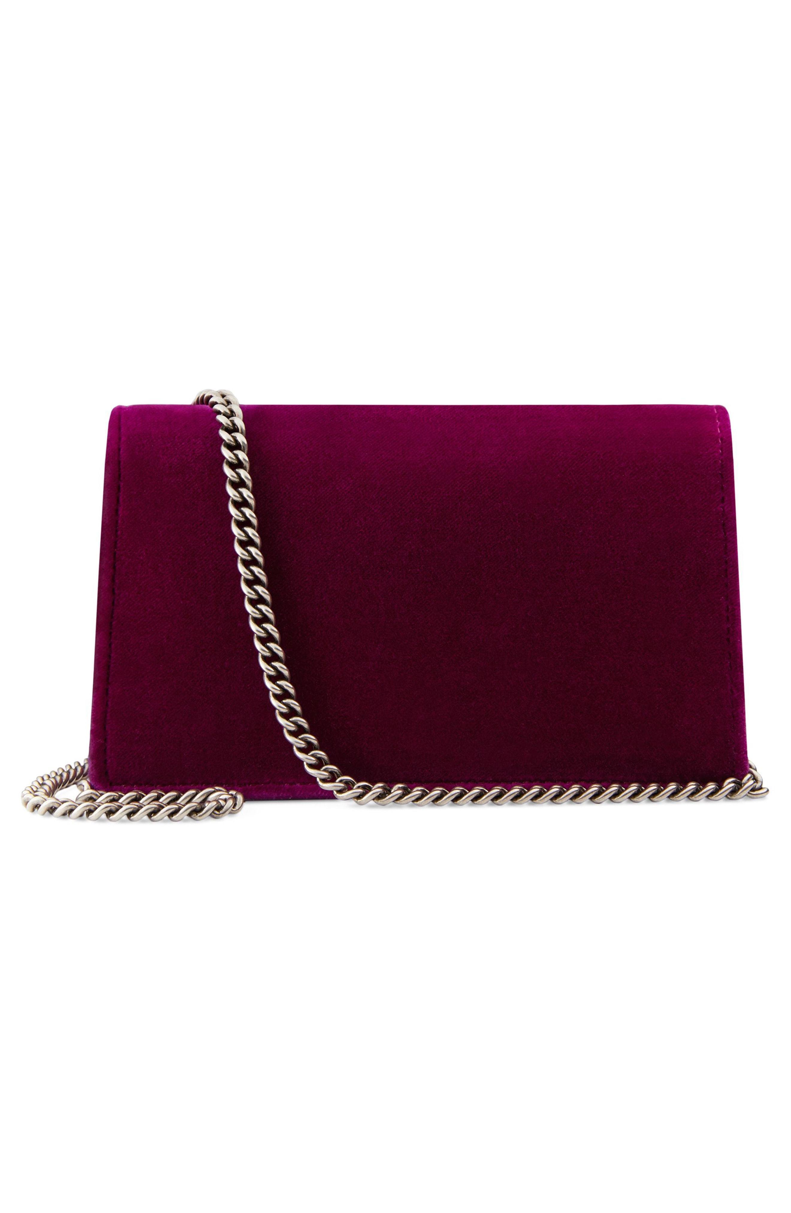 27effc8cf8a Gucci Super Mini Dionysus Velvet Shoulder Bag In Bordeaux Velvet ...
