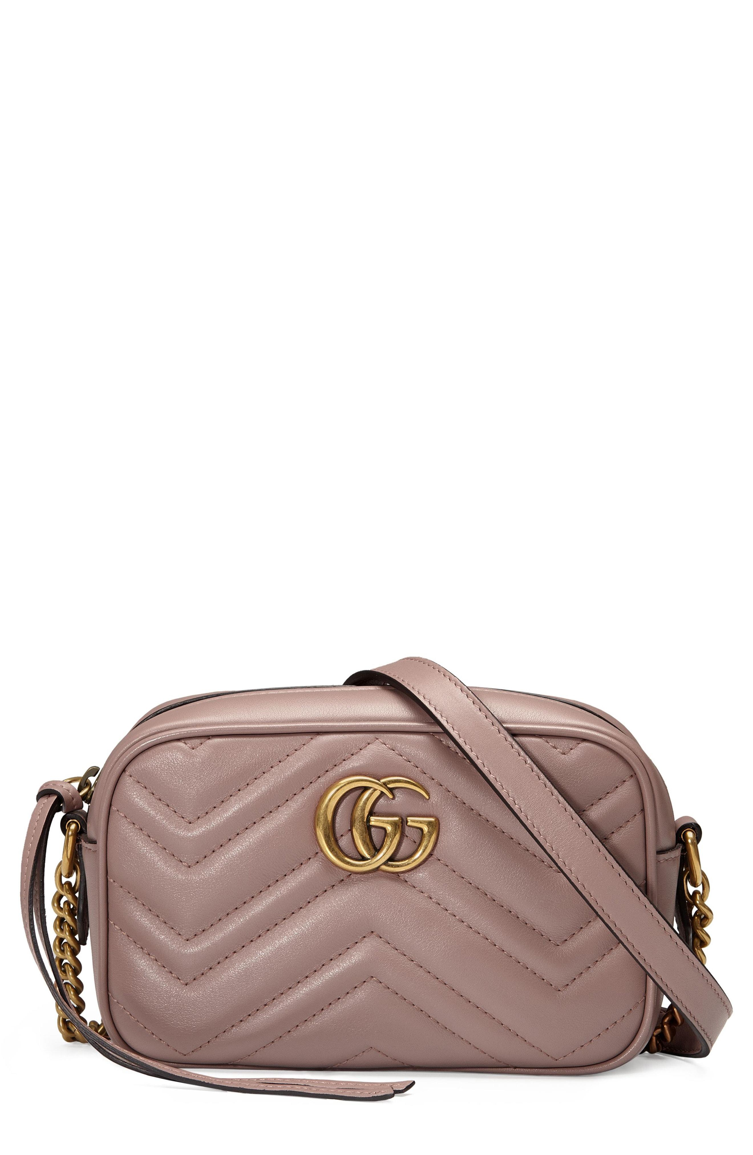 e0d7ccdad Gucci Small Gg Marmont 2.0 Matelasse Leather Camera Bag - Beige In ...