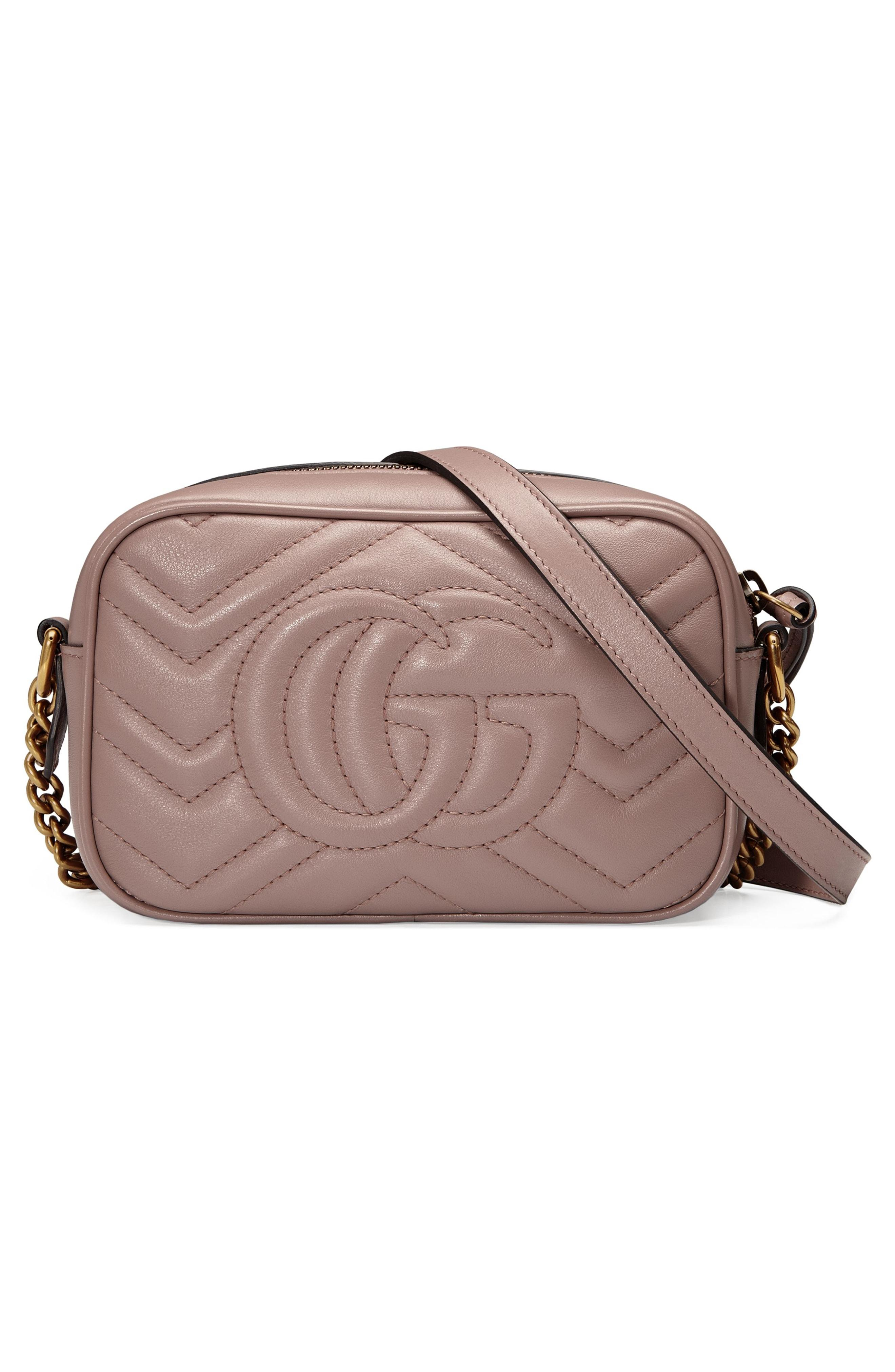 88168f04a88b5f Gucci Small Gg Marmont 2.0 MatelassÉ Leather Camera Bag In Nude ...
