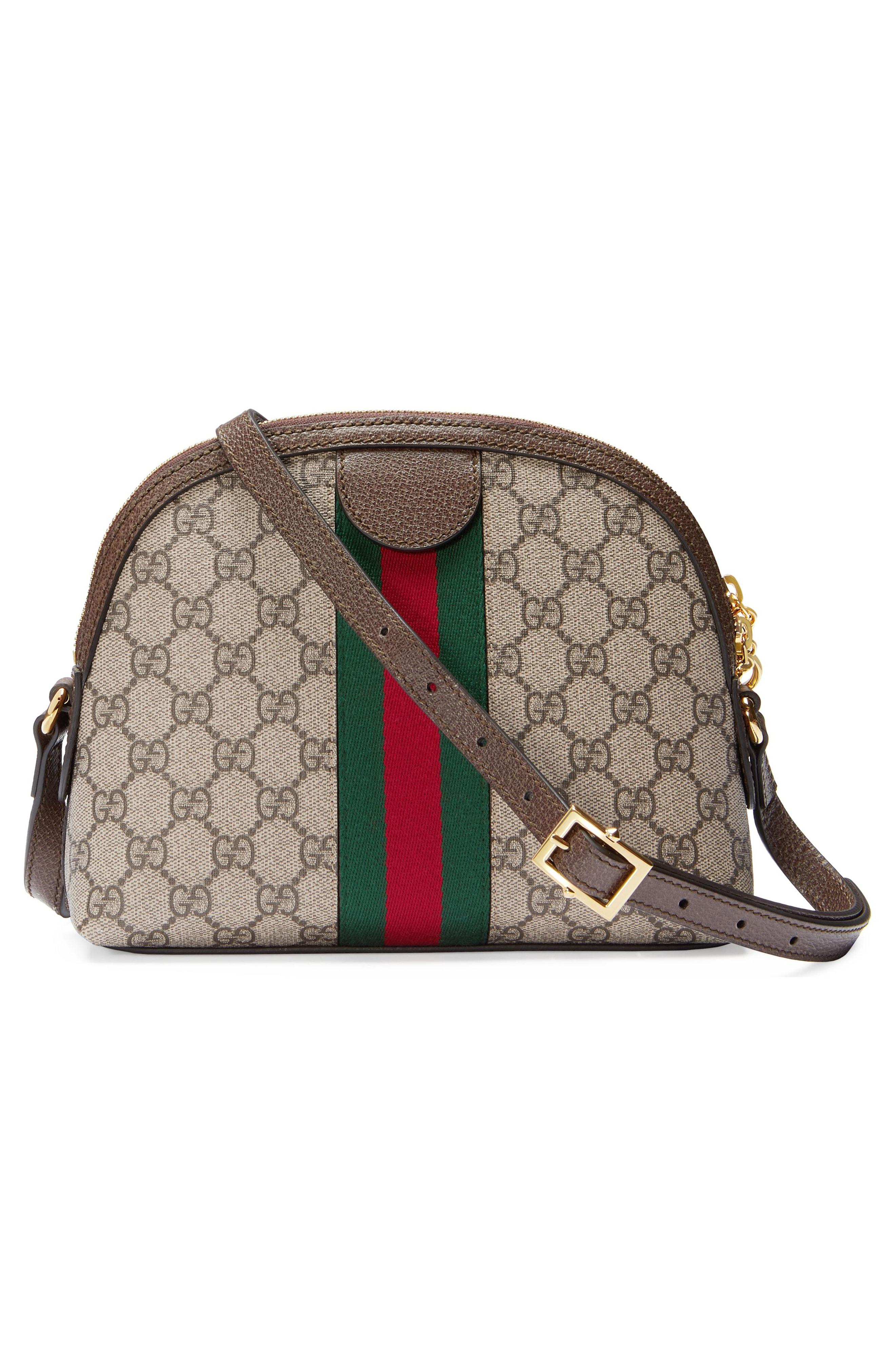 d299ccfa93526c Gucci Ophidia Textured Leather-Trimmed Printed Coated-Canvas ...