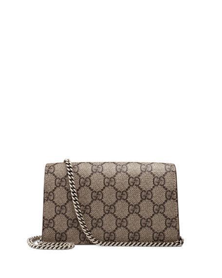 c1303d561a6 Gucci Super Mini Dionysus Gg Supreme Canvas   Suede Shoulder Bag In 8642  B.Ebony