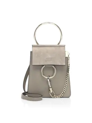 a46d60eb02d ChloÉ Faye Mini Leather & Suede Bag - Gray In Motty Grey | ModeSens
