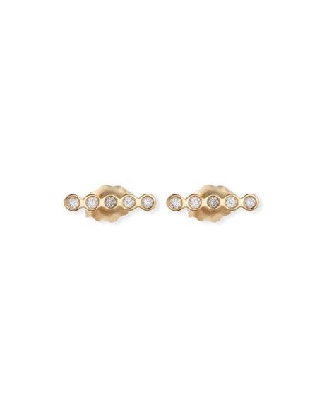 d6cdf885c ZoË Chicco 14K Tiny Straight Diamond Bar Stud Earrings In Rose Gold ...