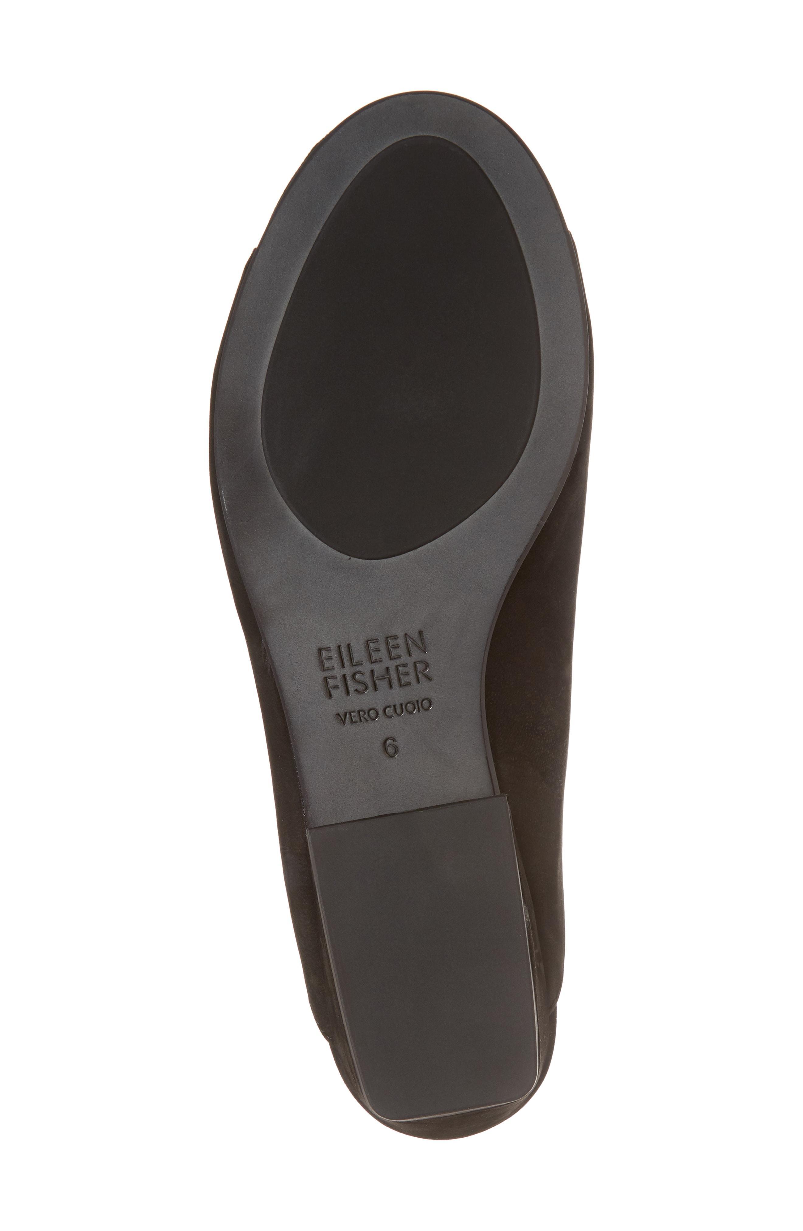 89c1fef08737 Eileen Fisher Women s Katniss Nubuck Leather Block Heel Slide Sandals In  Black Tumbled Nubuck