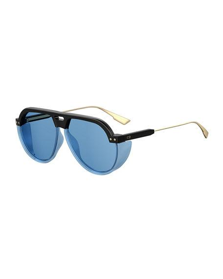 a32284d486a Dior Club3S 61Mm Pilot Sunglasses - Black  Blue