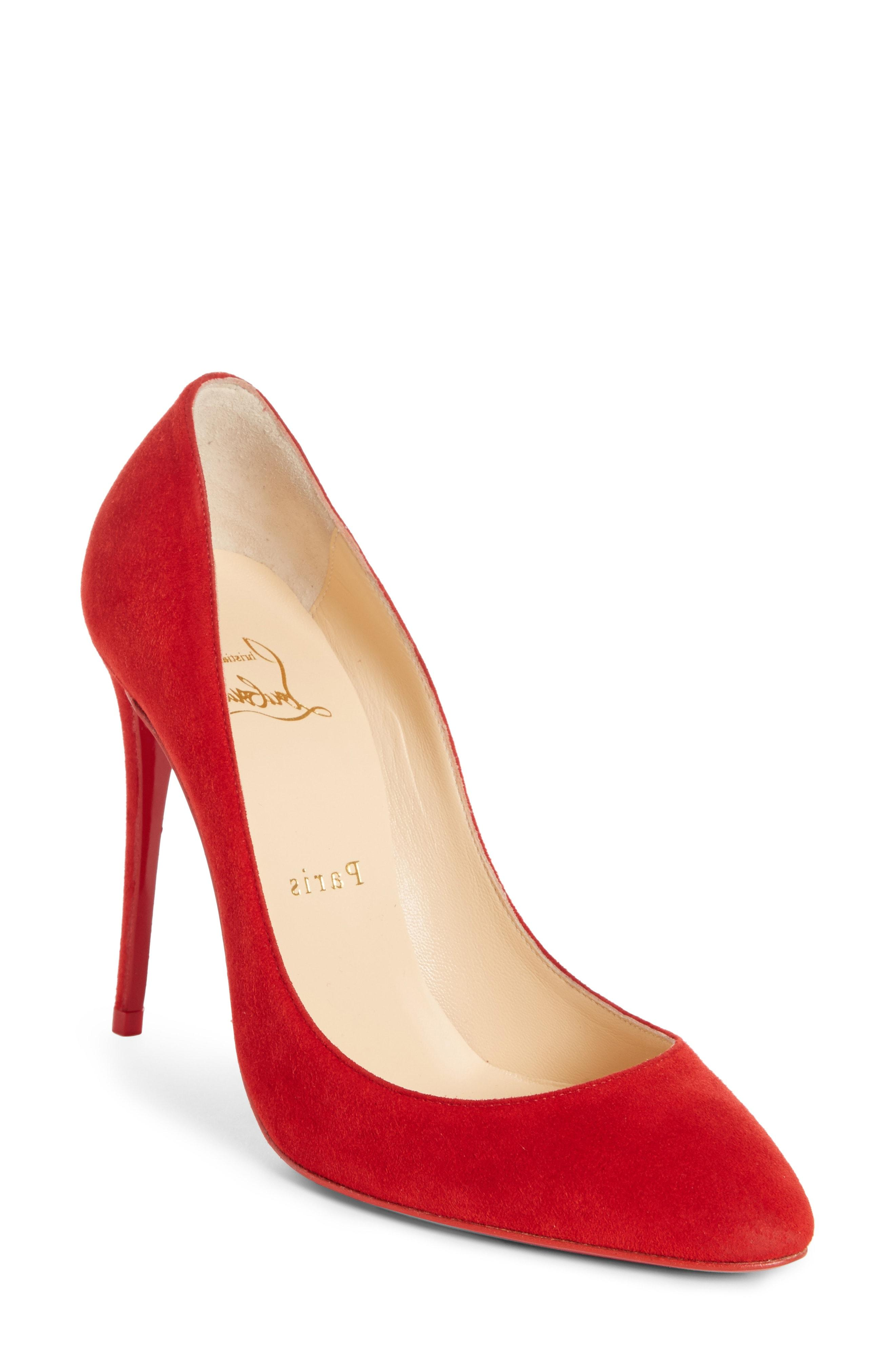 a539688a2293 Christian Louboutin Eloise 100Mm Suede Red Sole Pump