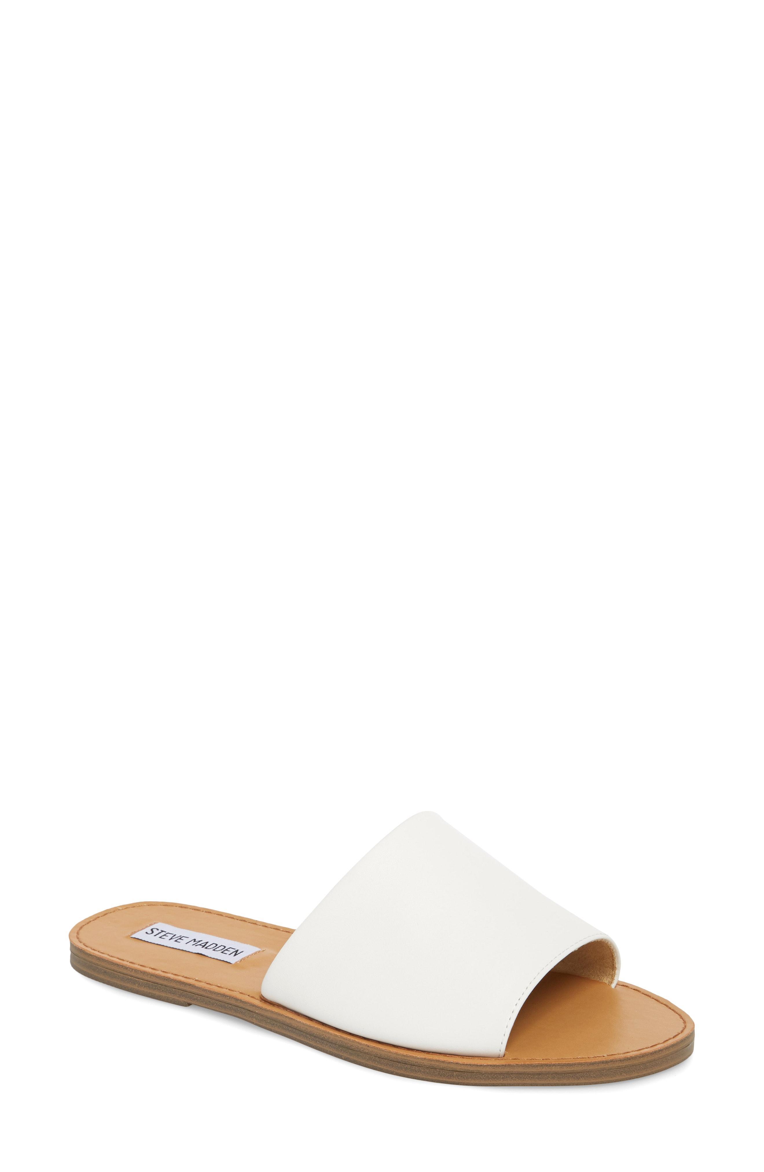 Details about  /Steve Madden Grace Slide Sandals Black Leather Size 6.5