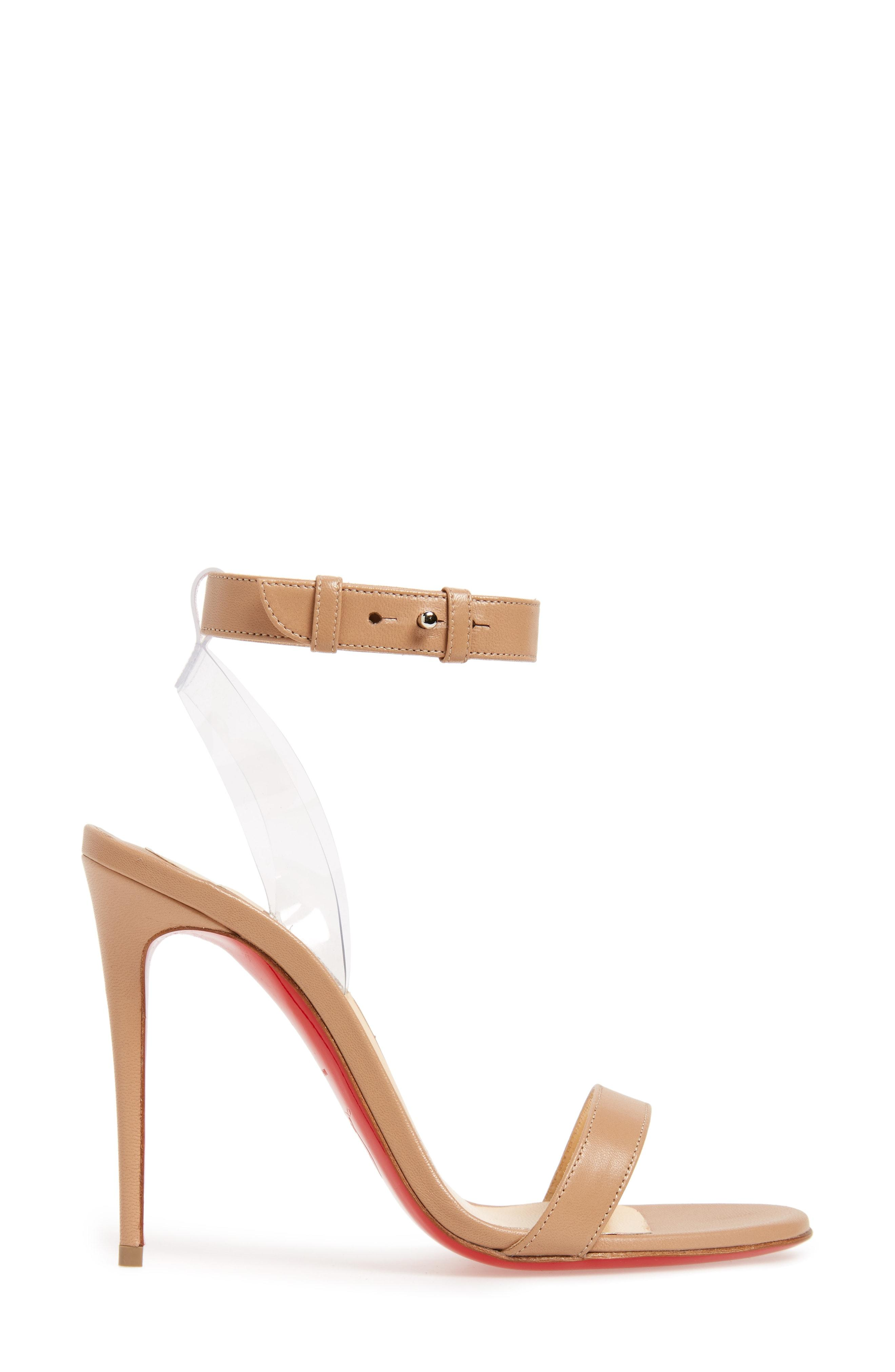 9340c780900c CHRISTIAN LOUBOUTIN. Jonatina Illusion Ankle-Strap Red Sole Sandals ...