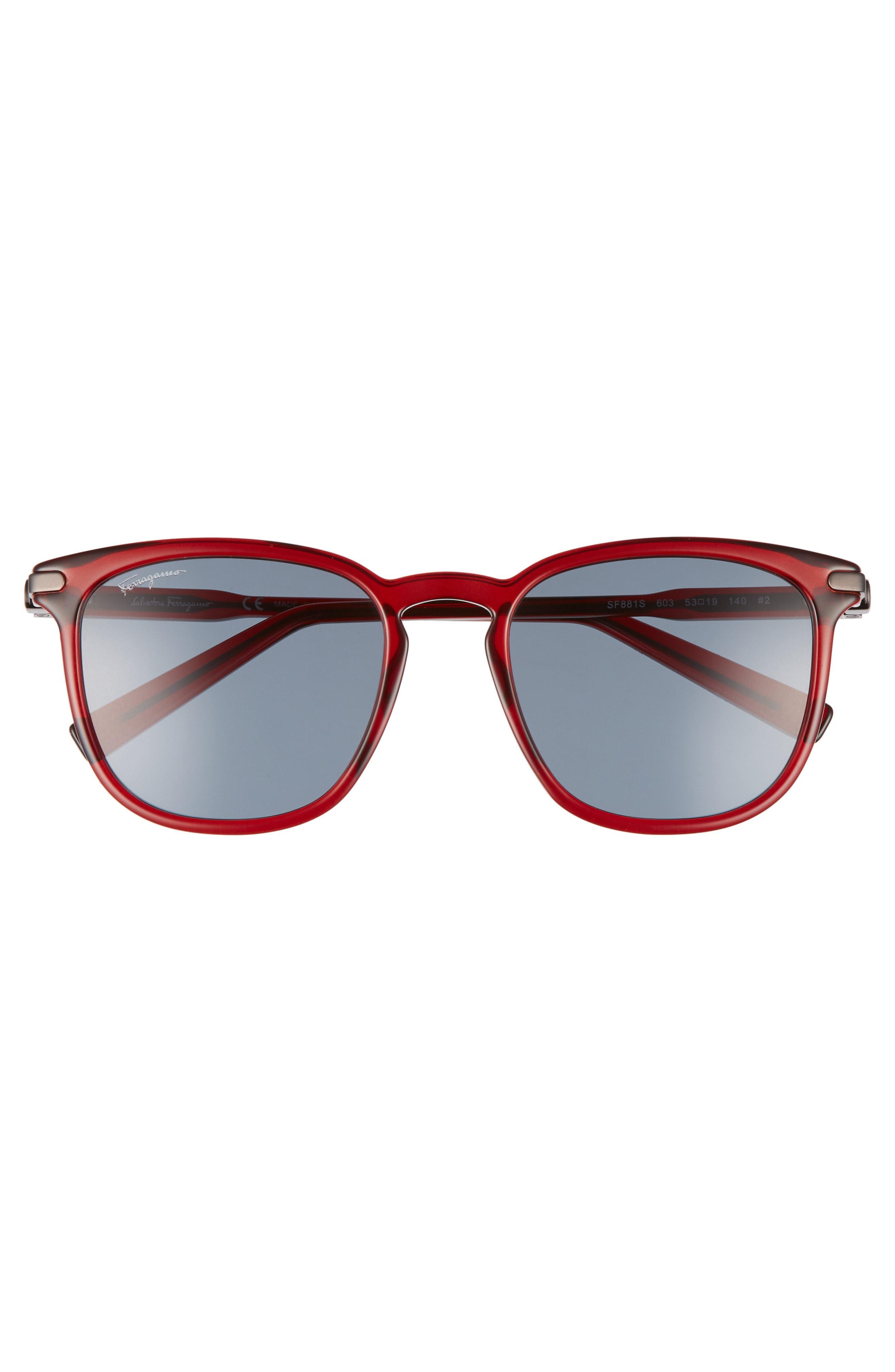 262bb42738d Salvatore Ferragamo Double Gancio 53Mm Sunglasses - Bordeaux