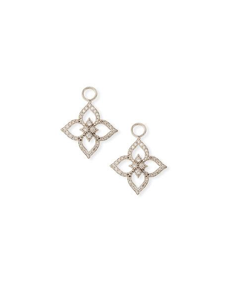 03138b38880e8 18K Moroccan PavÉ Flower Earring Charms in White/Gold