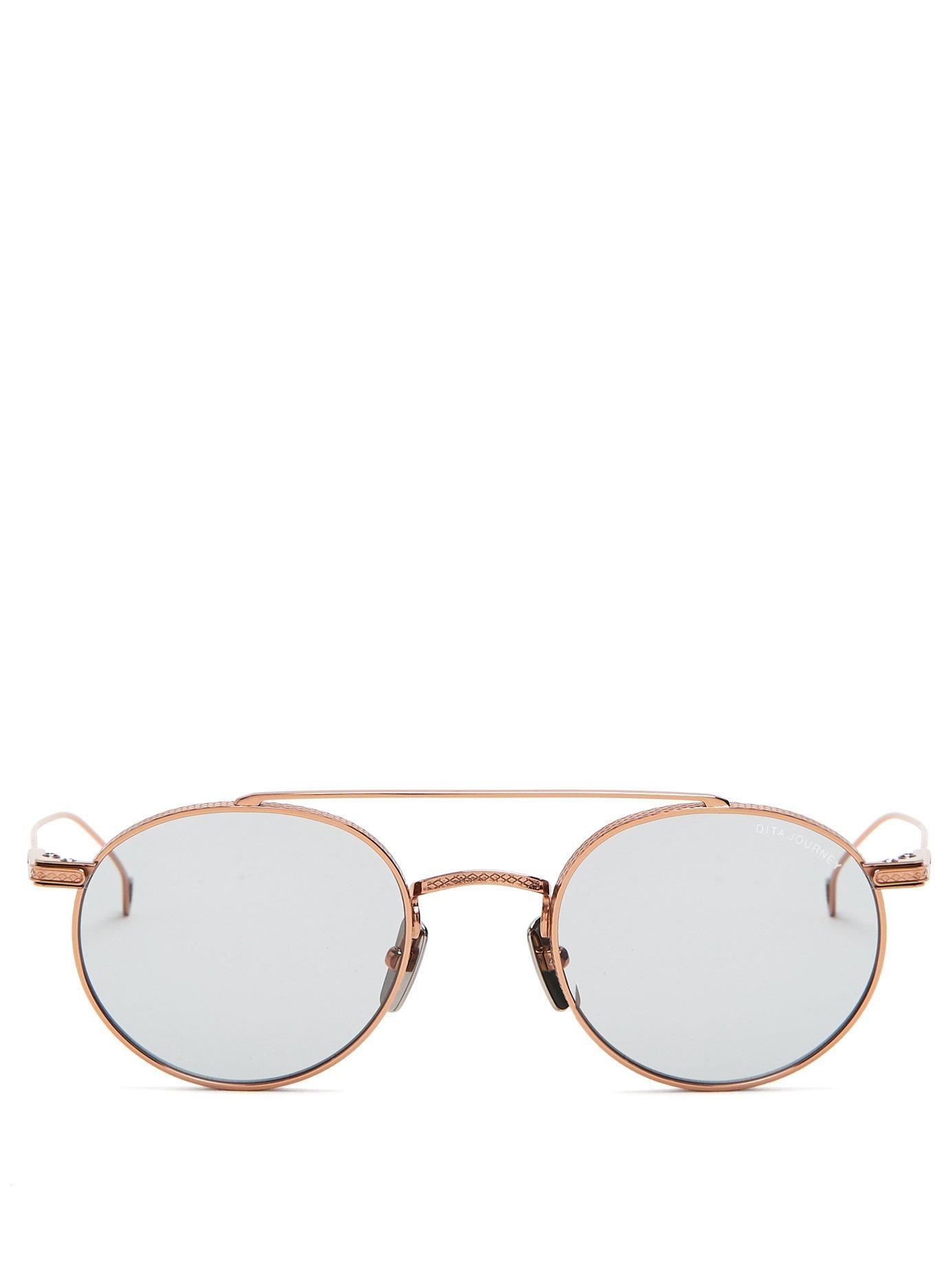 62902d6ca99bf Dita Eyewear Journey Round Titanium Sunglasses In Gold