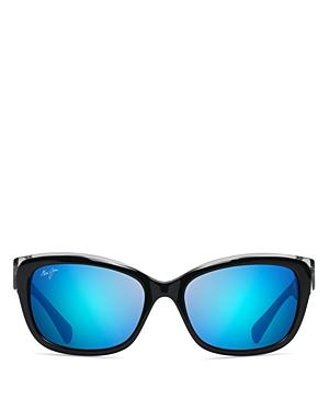 899125b31e3f Maui Jim Plumeria 55Mm Polarized Cat Eye Sunglasses - Black W Crystal/ Blue  Hawaii