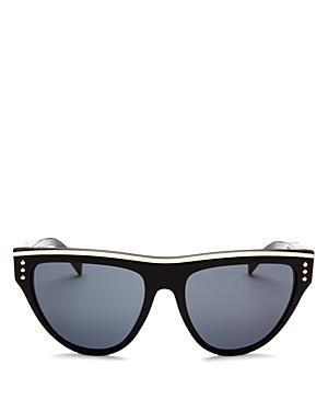 1714bb931 Moschino Women's 002 Round Sunglasses, 56Mm In Black/Gray | ModeSens