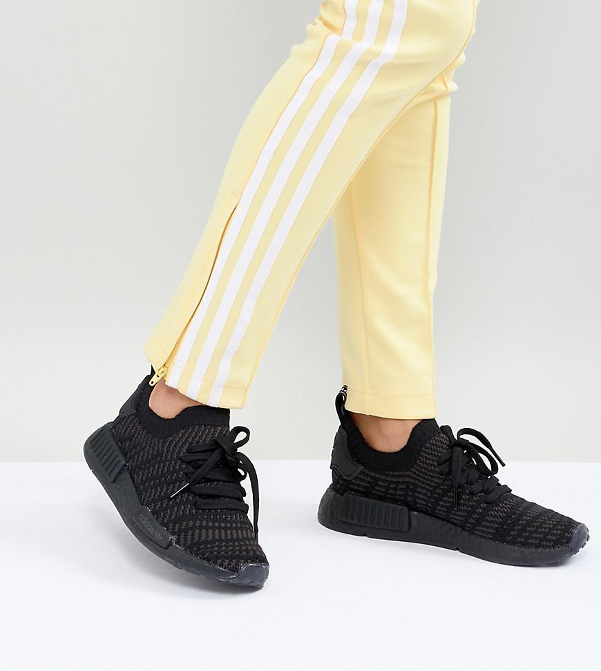 Nmd R1 Sneakers In All Black - Black