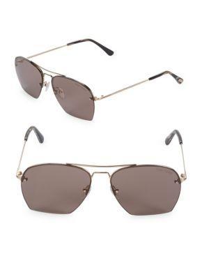 79808a25e2 Tom Ford Geometric Aviator Sunglasses In Gold