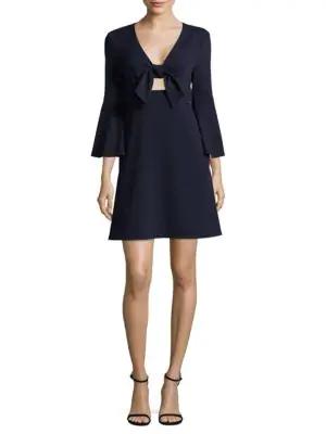ABS BY ALLEN SCHWARTZ Tie-Front Dress,0400097068112