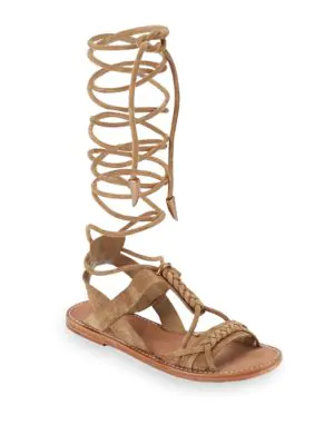 39b0132906a5 Ash Peace Suede Gladiator Sandal