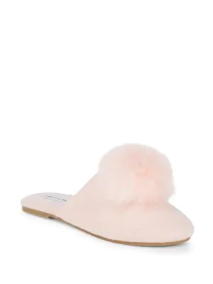 2ceee32a41c Saks Fifth Avenue Faux Fur Pom Slippers In Blush