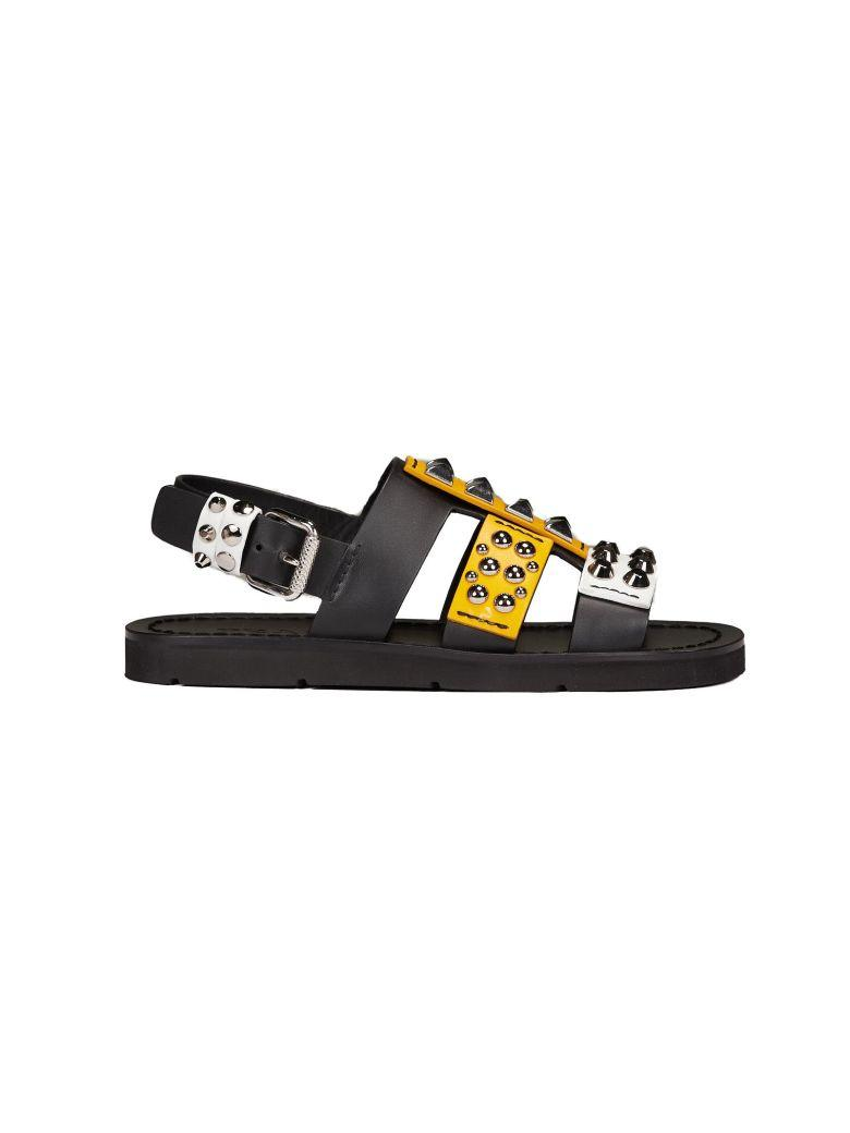 815c3427a4da Prada Studded Flat Sandals In Black
