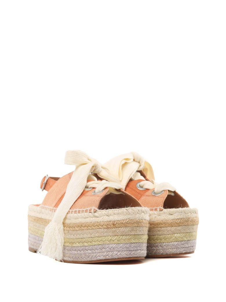 c8b43d1b818 See By ChloÉ Qai Suede And Canvas Platform Espadrille Sandals In Albicocca