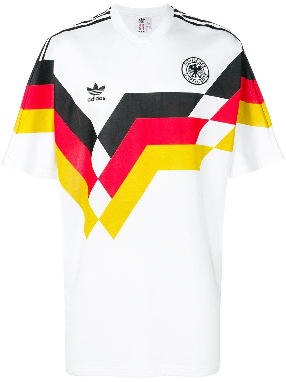 Adidas Originals Retro Germany Soccer Jersey In White Ce2343 ...