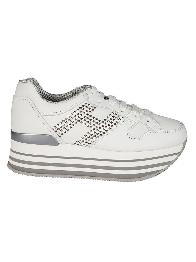 Hogan Maxi H283 Platform Sneakers In White | ModeSens