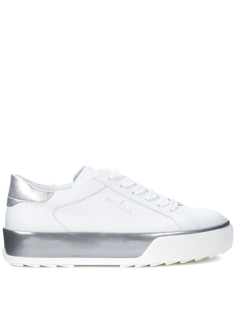Hogan Sneaker H320 In Pelle Bianca E Argento In Bianco   ModeSens