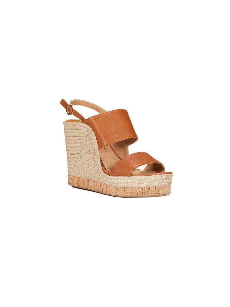 039cbb1dfa5 Salvatore Ferragamo Women s Leather Slingback Espadrille Wedge Sandals In  Sella