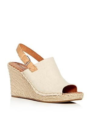 TOMS WOMEN'S MONICA SLINGBACK ESPADRILLE WEDGE SANDALS,10011843