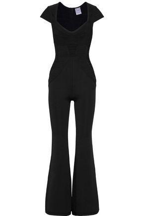 2f60f18adf64 Herve Leger Michellii Crochet Mesh Bandage Jumpsuit In Black