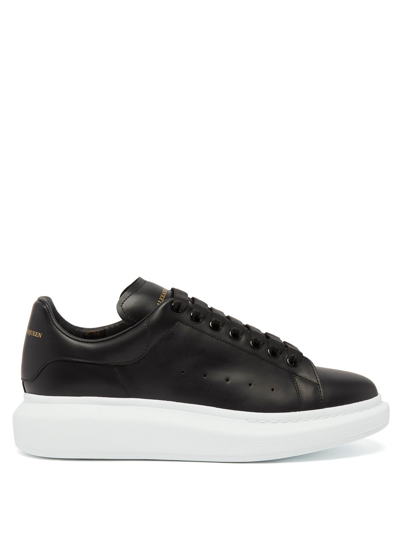 low price sale picked up arrives Alexander Mcqueen - Raised Sole Low Top Leather Trainers - Mens ...