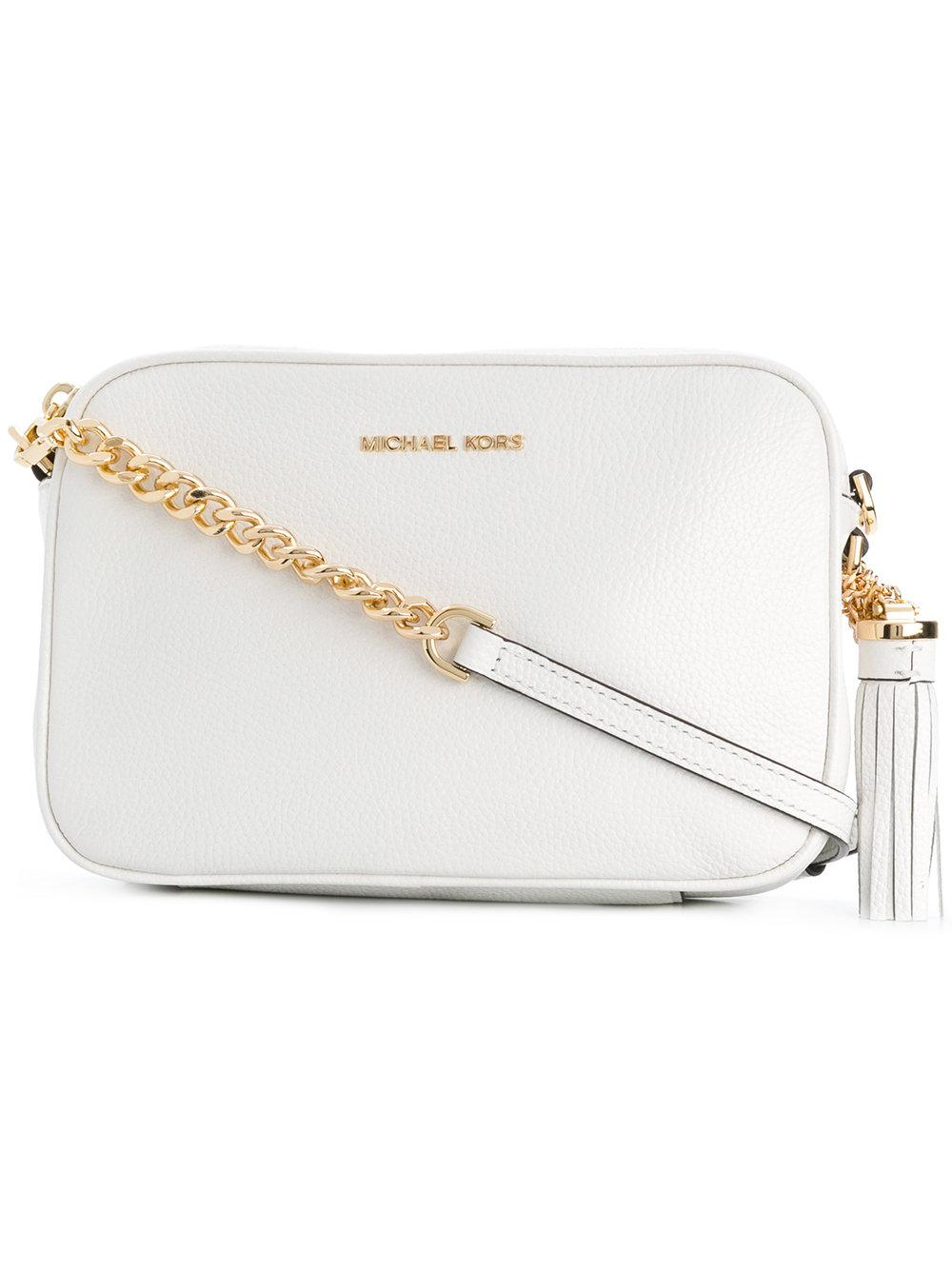 d12903d1b979 Michael Michael Kors Ginny Crossbody Bag - Weiß In White | ModeSens