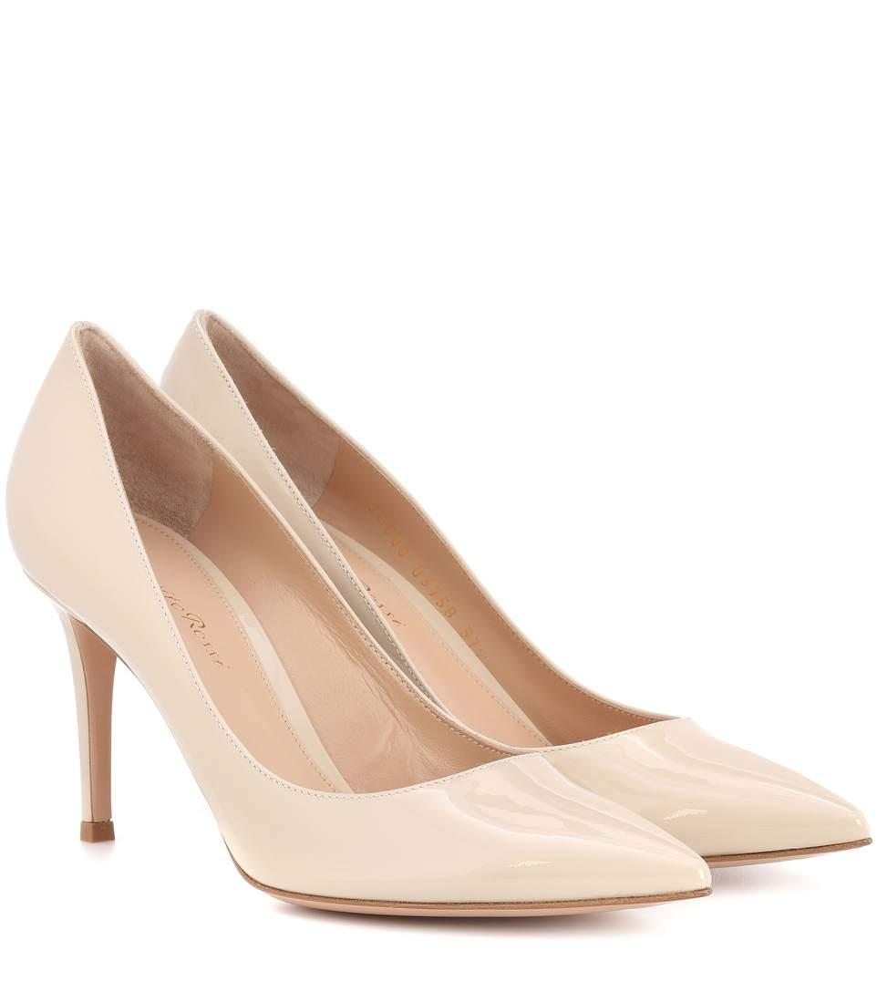b70116e05b4 Gianvito 85 Patent Leather Pumps in Neutrals